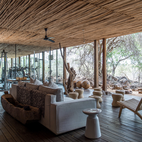 Singita Lebombo Lodge Gym & Lounge