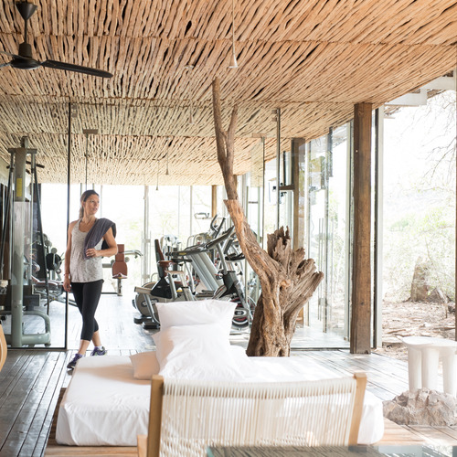 Singita Lebombo Lodge Gym and Lounge