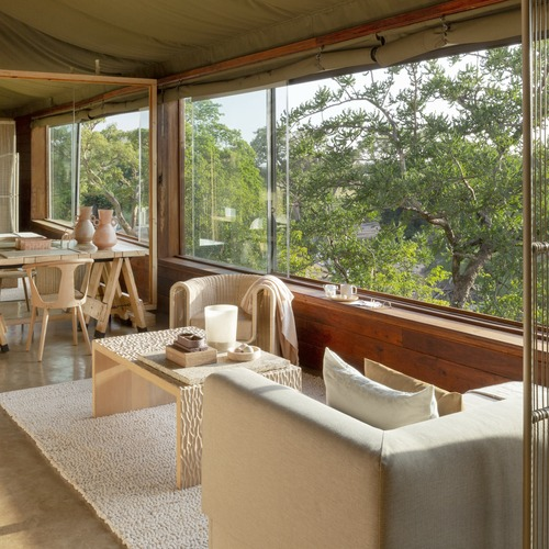 Singita Faru Faru Lodge Suite Lounge