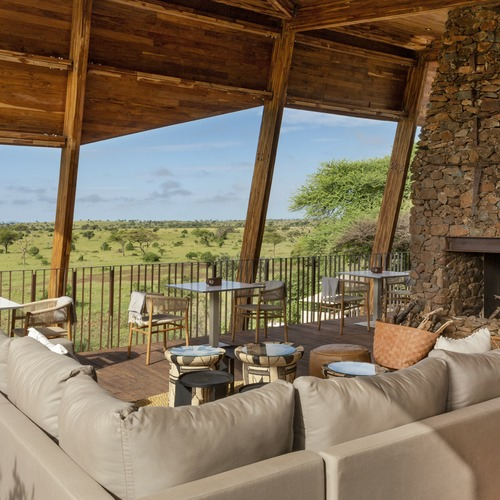 Singita Faru Faru Lodge Lounge and Deck