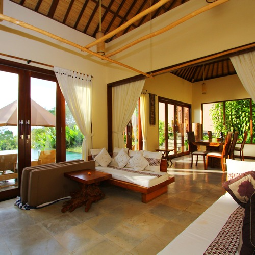 Two Bed Pool Villa Lounge and Dining AreasMunduk Moding Plantation