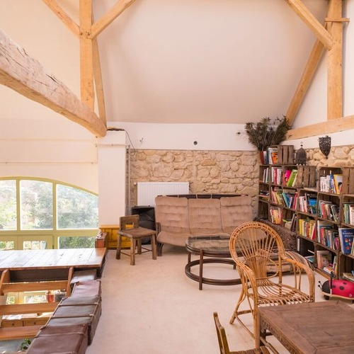 Hunza Ecolodge Communal Barn Library and Lounge