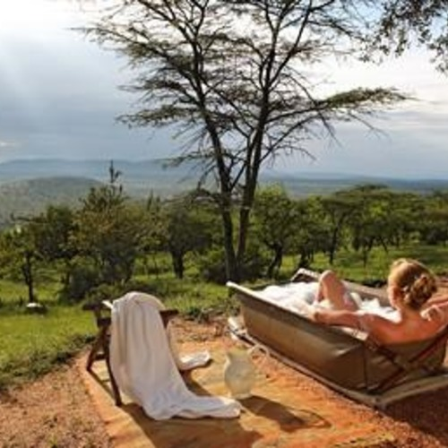 Cottars Family Tent Outdoor Bath