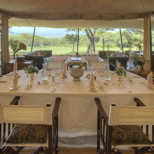 Cottars Mess Tent Dining