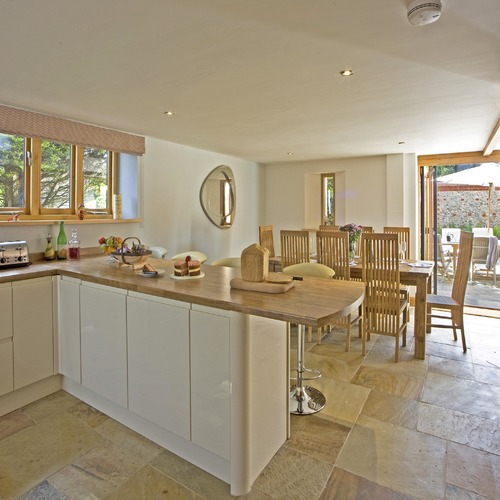Mill Farm Eco Barn Open Plan Kitchen Diner and Terrace