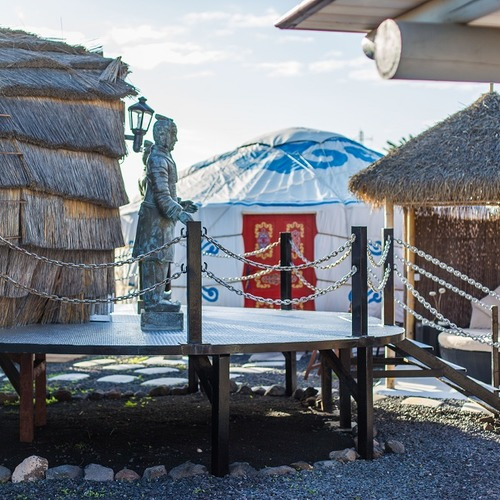 Lanzarote Retreats Beach Yurt and Palm Pod