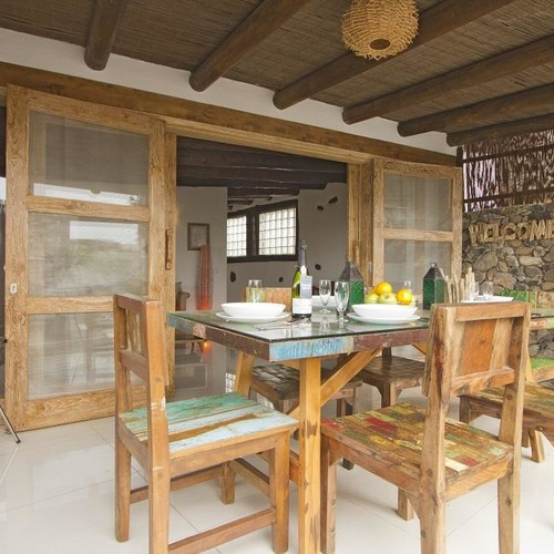 Lanzarote Retreats Eco Cabin Dining Terrace