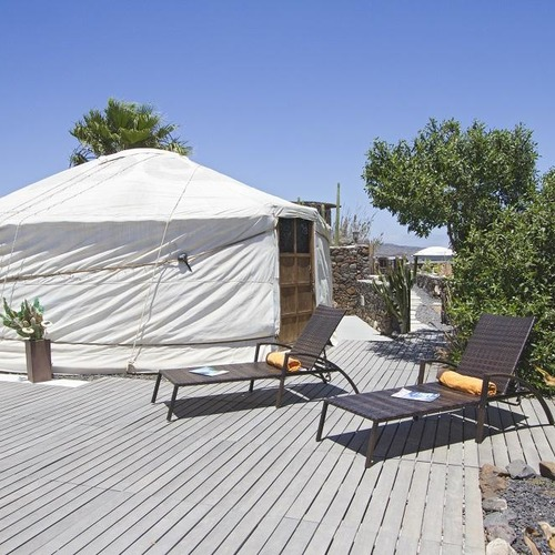 Lanzarote Retreats Eco Yurt Sunlounger