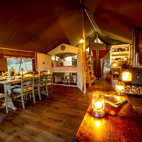 Longlands Tents Dining Area