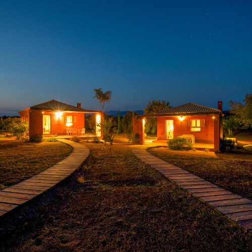 Eumelia Farm Cottages at Night