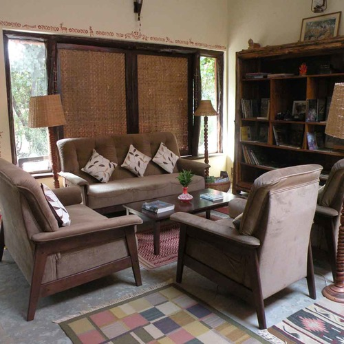 Bandhavgarh Jungle Lodge Deluxe Cottage Lounge