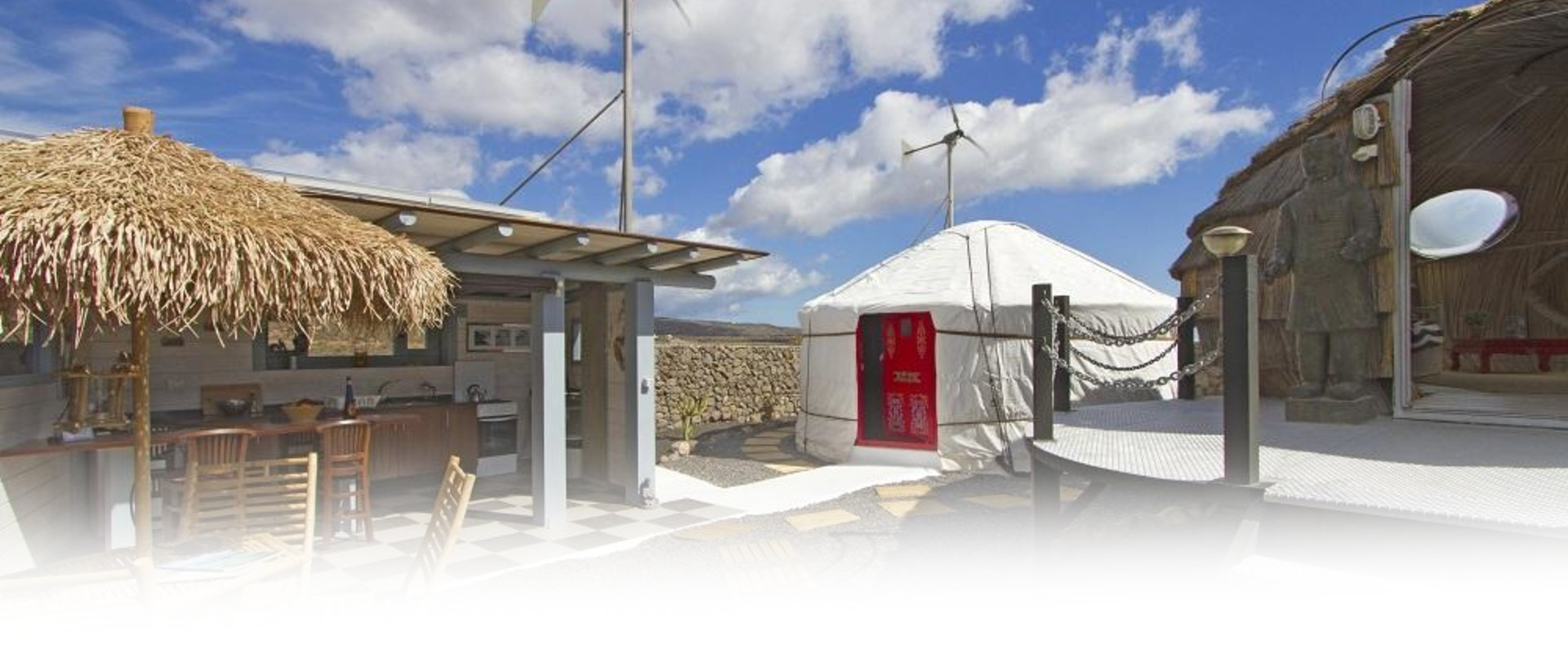 Lanzarote Retreats Eco Beach Yurt Entrance
