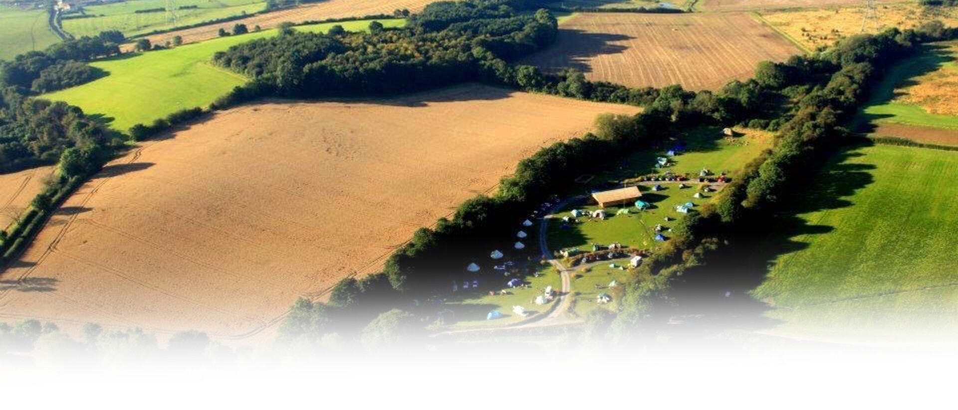 The Hideaway at Baxby Manor Aerial View Surrounding Fields